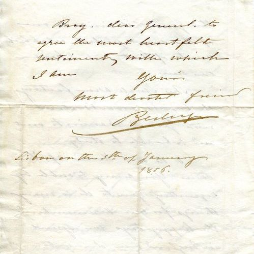 PEDRO V: (1837 1861) King of Portugal 1853 61. A rare A.L.S., Pedro, four pages,…