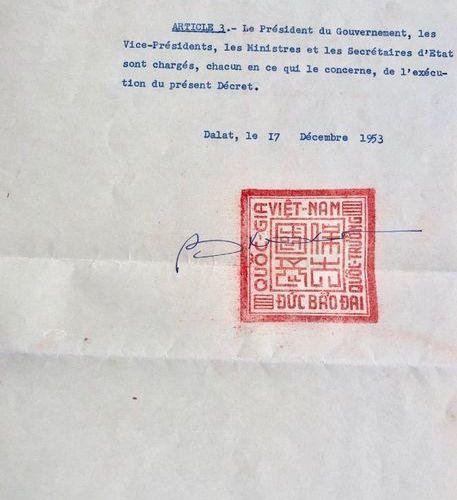 BAO DAI: (1913 1997) His name being Nguyen Phuc Vinh Thuy. Last Emperor of Vietn…