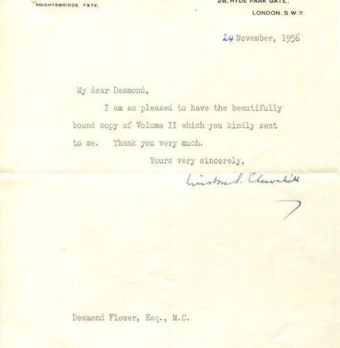 CHURCHILL WINSTON S.: (1874 1965) British Prime Minister 1940 45, 1951 55. Nobel…