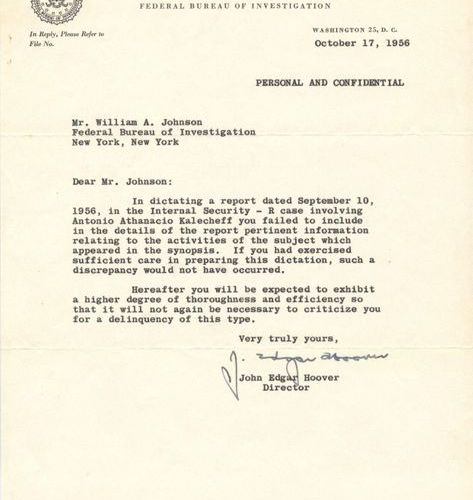 HOOVER J. EDGAR: (1895 1972) Director of the Federal Bureau of Investigation (FB…
