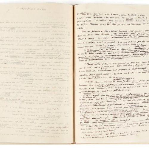 Antoine DE SAINT EXUPERY (1900 1944) «Au centre du désert»: manuscrit autographe…