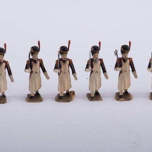 Soldats de plomb CBG Mignot 6 sappers of the guard