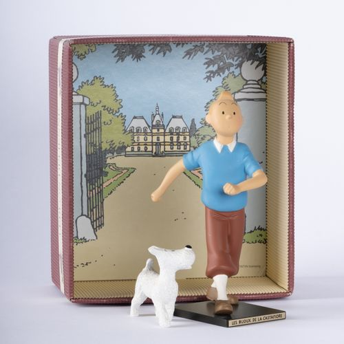 """HERGÉ, Georges Rémi dit (1907 1983) Leblon Delienne, Tintin and Snowy """"Les Bijou…"""
