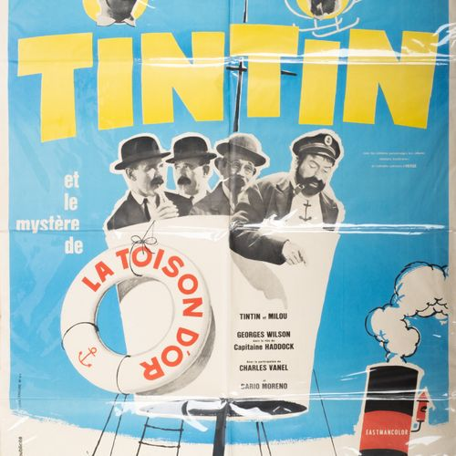 HERGÉ, Georges Rémi dit (1907 1983) Tintin Original Poster The Mystery of the Go…