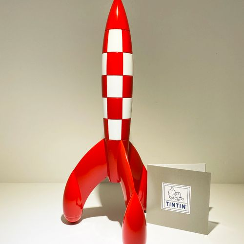 HERGÉ, Georges Rémi dit (1907 1983) Moulinsart 46949. Tintin, the Rocket 30 cm, …