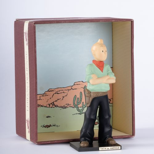 HERGÉ, Georges Rémi dit (1907 1983) Leblon Delienne , Tintin en Amérique Polychr…