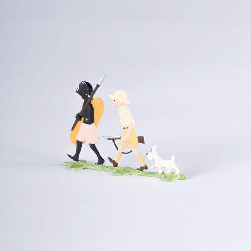 HERGÉ, Georges Remi dit (1907 1983) Pixi Plats d'étain, TINTIN AU CONGO Tintin, …