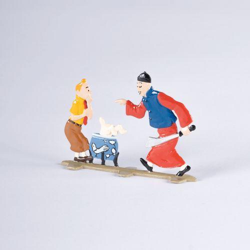 HERGÉ, Georges Remi dit (1907 1983) Pixi Plats d'étain, LE LOTUS BLEU Tintin, Mi…