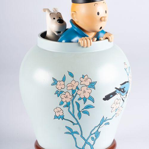 HERGÉ, Georges Remi dit (1907 1983) Pixi – Regout – Tintin sortant de la Potiche…