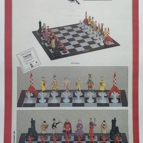 HERGÉ, Georges Remi dit (1907 1983) Affiche publicitaire Pixi pour le jeu d'éche…