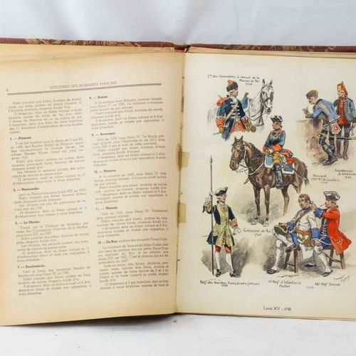 A set of eight books and uniform document including: 39 plates by Rousselot, The…