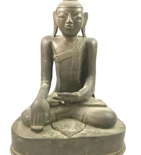 A bronze Buddha, in meditation (bhumisparsha mudra, position of the witness eart…