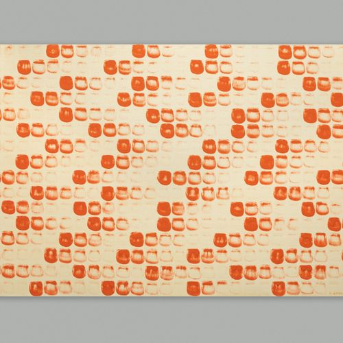 "Lee UFAN Lee U Fan (1936 ) ""From Point (in Paris) n° 770122"" Glue bound orange m…"