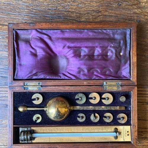 SIKES'S Hydrometer. In a rectangular box, with the address 20 Little Tower Stree…