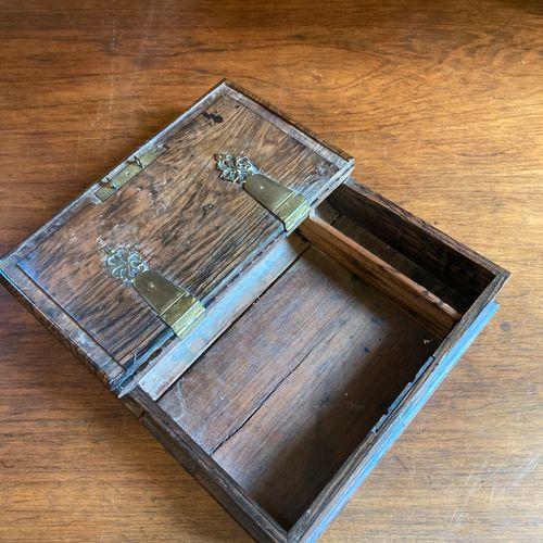Large carved and molded rosewood document box in the shape of a book.  Late 19th…