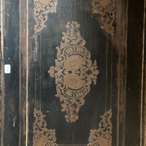 DIEHL in Paris. Blackened wood case with brass fillet ornaments. Rich ornamentat…