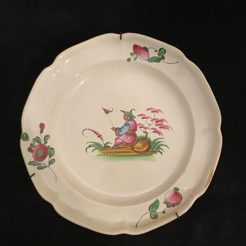 LES ISLETTES LES ISLETTES, plate in polychrome earthenware with Chinese decorati…