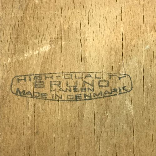 Bruno HENSEN, made in Denmark, Pair of Scandinavian chairs in teak, the seat cov…