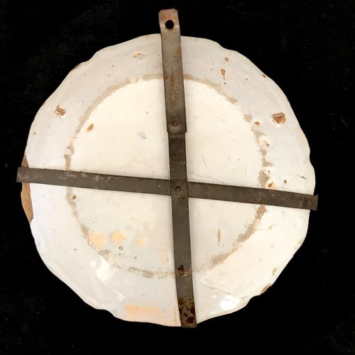 NEVERS Plate in faïnce with polychrome decoration of Saint François de Laneaum i…