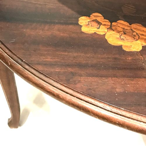Louis MAJORELLE (1859 1926)  Oval table with double top  Dimensions: 80 x 83 x 6…