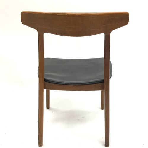 Bruno HENSEN, made in Denmark, Paire de chaises scandinaves en teck, l'assise co…