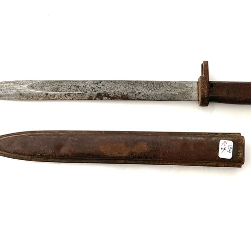Baïonnette Mauser 98 modèle « ersatz », lame droite de 31,5 cm, à gorge et dos p…