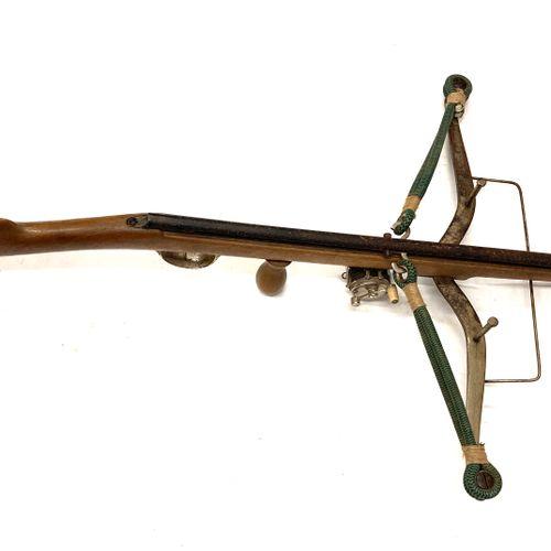 Fusil arbalète pour la pèche, monture bois avec moulinet et arc de 50 cm, LT 93 …