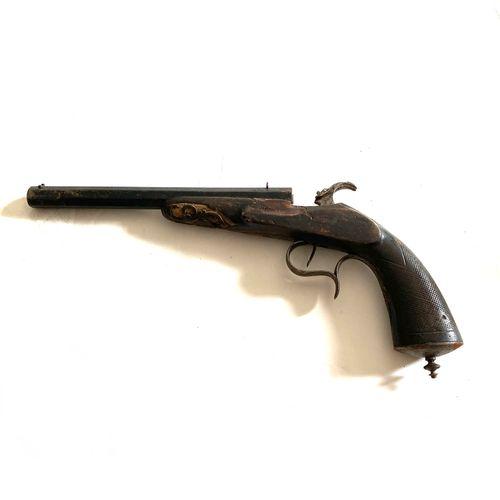 Pistolet de tir de salon système Flobert, calibre 5.5 mm, canon octogonal de 21 …