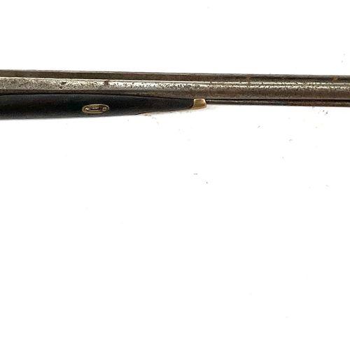 Fusil de chasse à percussion, canons en table de 80 cm, garnitures maillechort, …