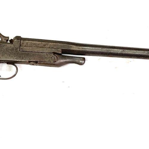 Fusil mono coup pliant à percussion centrale par chien extérieur, canons de 59 c…