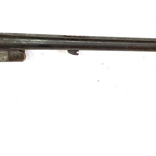 Fusil de chasse à percussion centrale par chiens extérieurs, canons en table ray…