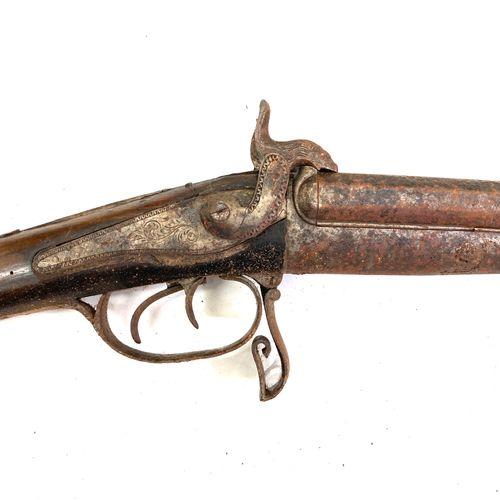 Fusil de chasse à broche, canons en table de 61,5 cm calibre 20, ouverture par c…