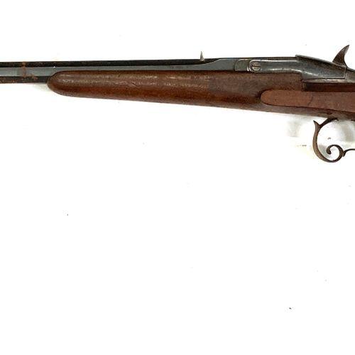 Carabine système Warnant, calibre 9 mm Flobert, canon à pans de 60,5 cm pontet v…