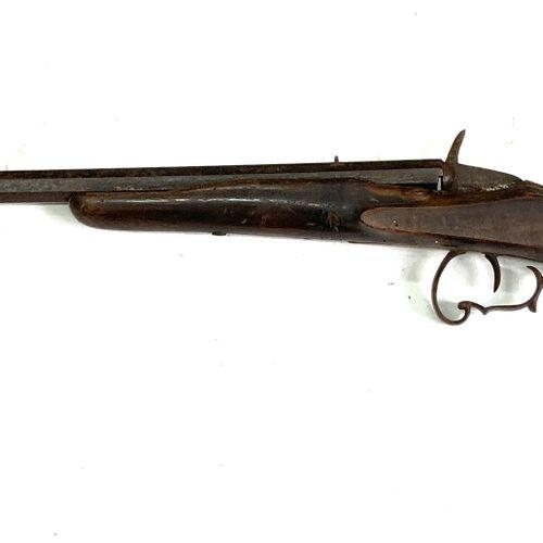 Carabine système Flobert, calibre 6 mm, canon à pans de 57 cm, LT 95 cm, usure, …