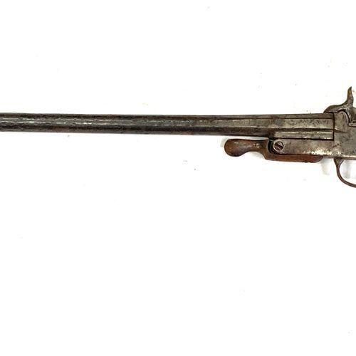 Fusil mono coup pliant à broche, canons de 70 cm, ouverture par clef sous le pon…