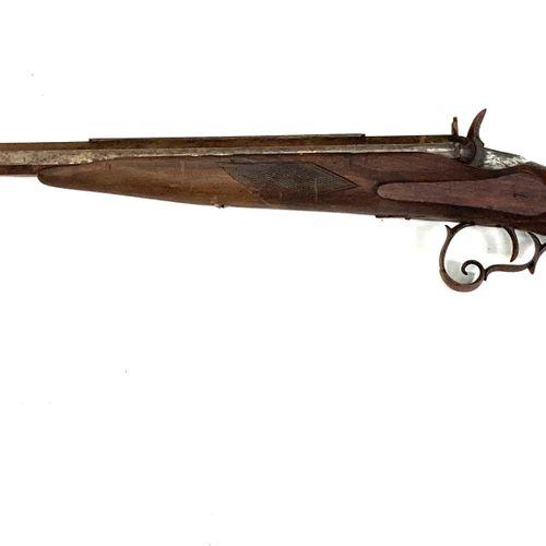 Carabine système Flobert, calibre 6 mm, canon à pans de 67 cm avec guidon protég…