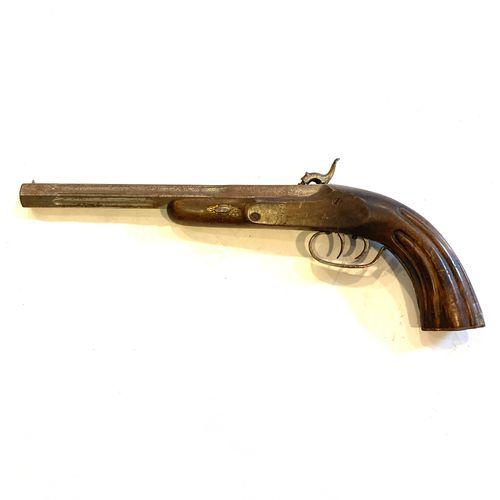 Pistolet de tir à percussion, canon octogonal de 27 cm, calibre .12 mm, rayures …