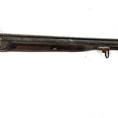 Fusil de chasse à percussion, canons en table effet Damas de 74 cm, garnitures f…