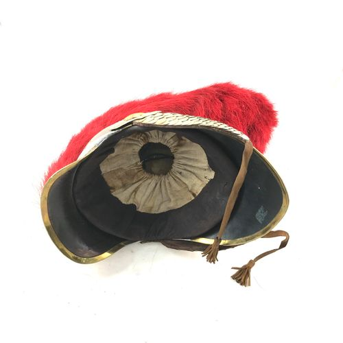 Casque de carabinier, Ier Empire, bombe en laiton avec visière et couvre nuque, …