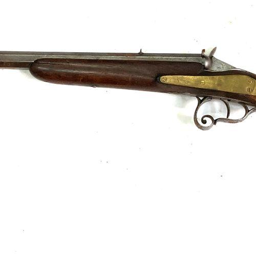 Carabine système Flobert, calibre 6 mm, canon lourd à pans de 58 cm, pontet volu…