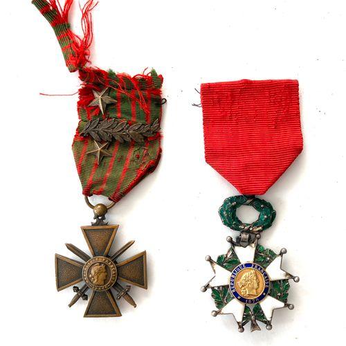 Ordres et décorations : Légion d'honneur, étoile de chevalier 36 mm, chocs et ma…