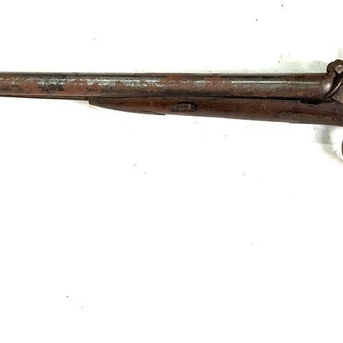 Fusil de chasse à percussion, canons en table de 75 cm, garnitures maillechort, …