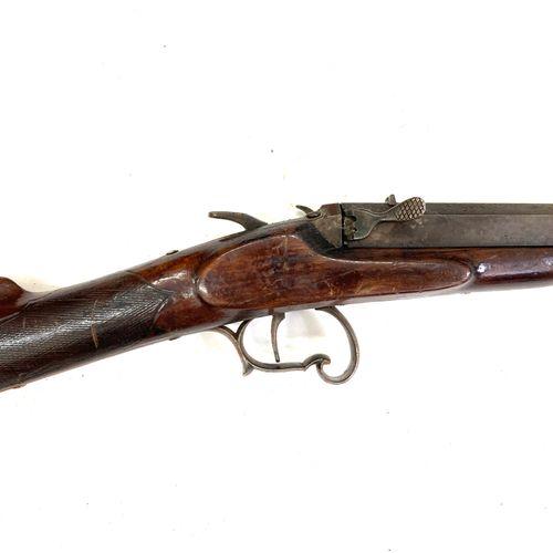 Carabine à système, calibre 9 mm Flobert, intéressant système d'ouverture pivota…