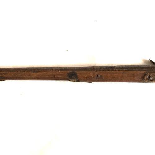 Fusil de chasse mono canon, canon de 90 cm, platine à silex à corps plat de 130 …