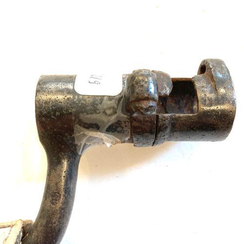 Baïonnette type 1822, lame de 39,5 cm, douille de 67 mm, ⌀ 21 mm, LT 46,6 cm, us…