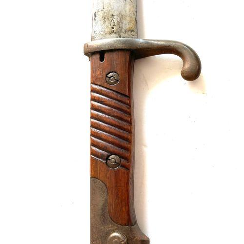 Baïonnette allemande d'artillerie modèle 1871 98, lame de réemploi d'une baïonne…