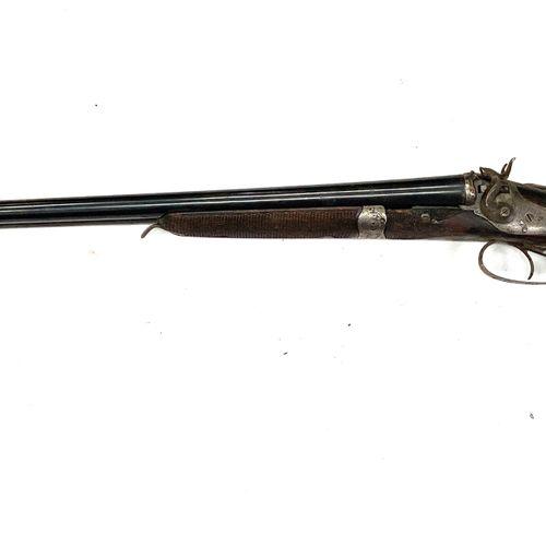 Fusil de chasse à percussion centrale par chiens extérieurs, canons juxtaposés L…