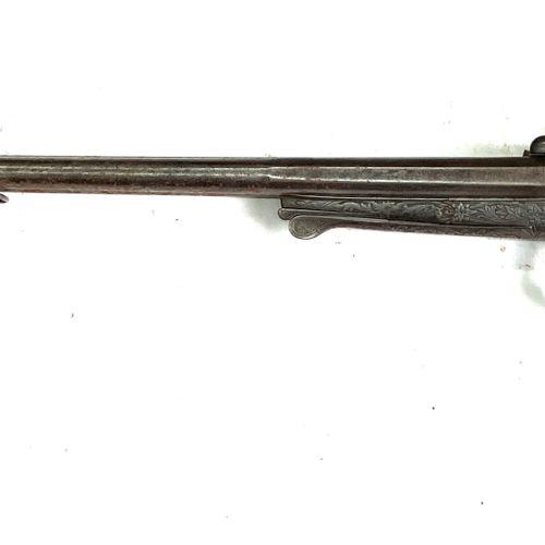 Fusil de chasse à broche, canons en table octogonaux puis rond de 76 cm calibre …