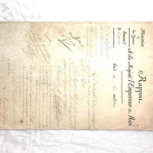 """Napoléon BONAPARTE 1769 1821 Napoléon 1er Empereur français. """"Rapport A sa Majes…"""