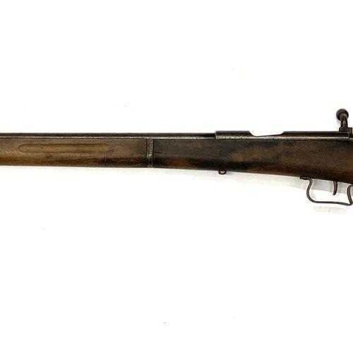 Carabine de chasse à verrou, calibre 9 mm Flobert, canon de 65 cm, LT 109 cm, us…